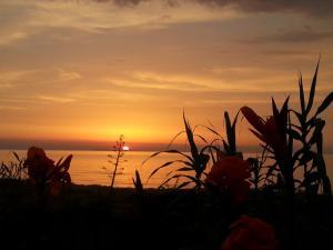 Η ανατολή ή δύση του ηλίου όπως φαίνεται από αυτό το διαμέρισμα ή από εκεί κοντά