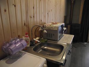Кухня или мини-кухня в Хостел Аркаим