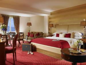 A bed or beds in a room at Galway Bay Hotel Conference & Leisure Centre