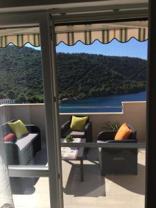 Balkón alebo terasa v ubytovaní Apartments Ladesta