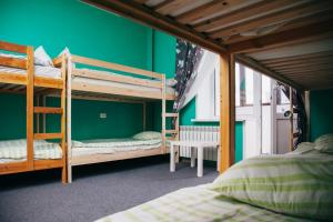 A bunk bed or bunk beds in a room at Хостел Горького 85