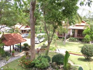 A garden outside Buritara Resort, Phangan Island