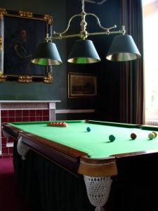 A billiards table at Tillmouth Park Country House Hotel