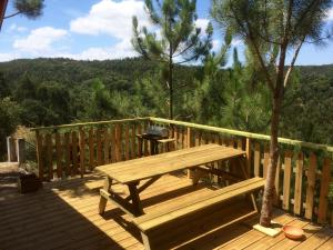 A balcony or terrace at Wood Valley House