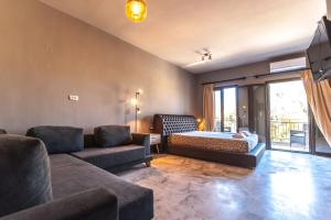 Χώρος καθιστικού στο Minoos Hotel