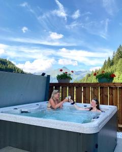 The swimming pool at or near Chalet Bluebell