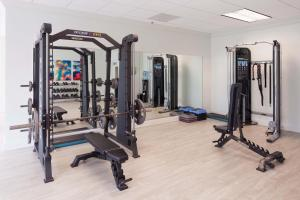 The fitness center and/or fitness facilities at Stay Alfred Apartments on Piedmont