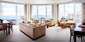 A seating area at Trump International Hotel Waikiki