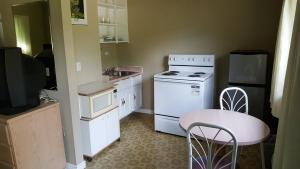 A kitchen or kitchenette at Pathfinder Motel & R.V. Park