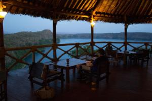 A restaurant or other place to eat at Lake Chala Safari Lodge