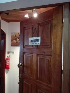 A television and/or entertainment center at Cabanas Waterfront Apartment