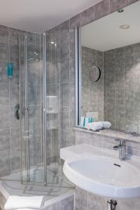 A bathroom at Historik Hotel Garni Christinenhof