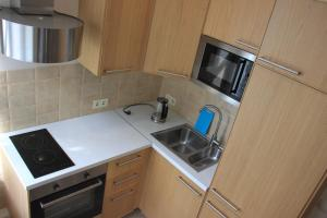 Кухня или мини-кухня в Apartment on Malaya Morskaya 19
