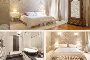 Un ou plusieurs lits dans un hébergement de l'établissement Chateau de Puyrigaud