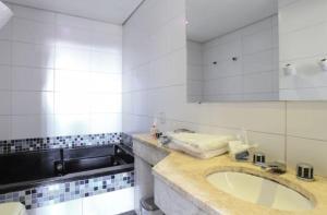 Um banheiro em Hippus Motel (Adult Only)