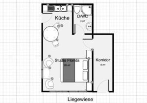 The floor plan of Chalet Florida