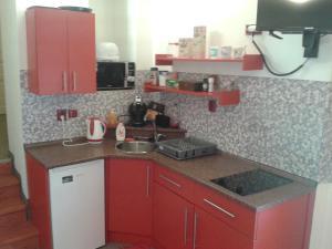 Kuchyň nebo kuchyňský kout v ubytování Apartman Lidicka