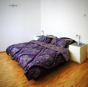 A bed or beds in a room at Apartament Szczecin Przecław – Zielone Pole