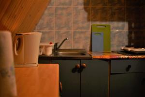 Kuchnia lub aneks kuchenny w obiekcie Domek Letniskowy