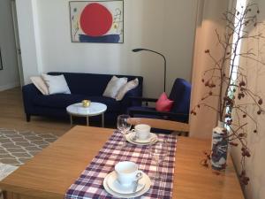 Posezení v ubytování Warsaw Apartment
