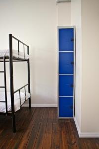 Ein Etagenbett oder Etagenbetten in einem Zimmer der Unterkunft Akureyri Backpackers