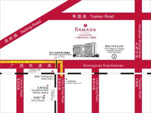 A bird's-eye view of Ramada Plaza Guangzhou