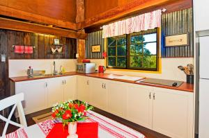 A kitchen or kitchenette at Possum Lodge At Cloudhill Estate