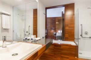 A bathroom at Pousada Armenteira