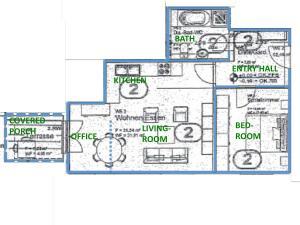 The floor plan of Apartment nahe Villenviertel
