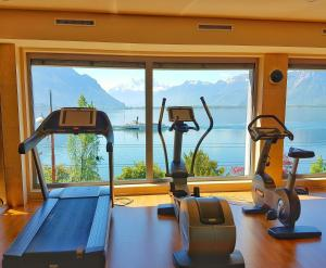 The fitness center and/or fitness facilities at Les Résidences du National de Montreux