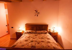 Letto o letti in una camera di b&b Montebello