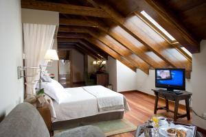 Cama o camas de una habitación en Parador de Cruz de Tejeda