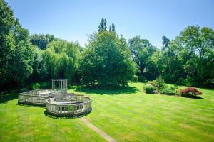 A garden outside Claverton Hotel