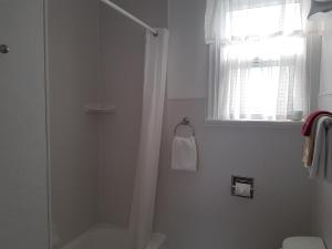 A bathroom at Flamingo Motel