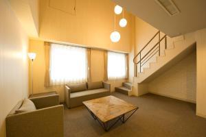 A seating area at Court Hotel Asahikawa