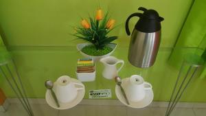 Coffee and tea making facilities at Hotel Embajador