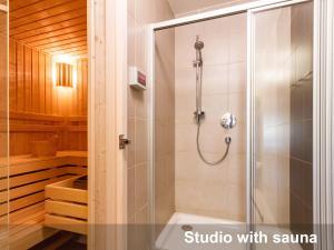 Koupelna v ubytování Albertov Rental Apartments