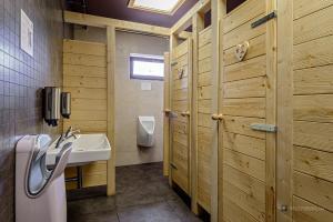 Kúpeľňa v ubytovaní Horská Chata pod Soliskom