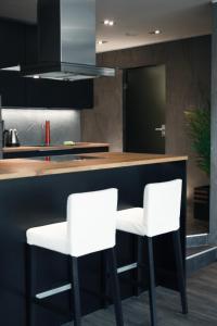 Ett kök eller pentry på Apartment in Jakobstad / Pietarsaari