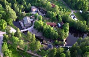 Ett flygfoto av Kvarnen i Borgvik