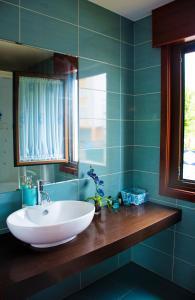 A bathroom at La casa del río