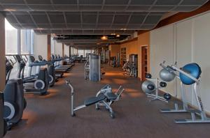 The fitness center and/or fitness facilities at Hyatt at Olive 8