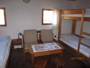 Palanda nebo palandy na pokoji v ubytování Horská Chata U Básníka