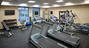 The fitness center and/or fitness facilities at Homewood Suites By Hilton North Bay