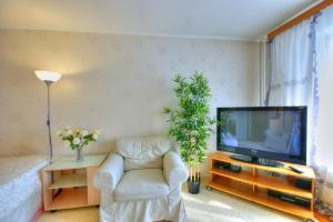 Телевизор и/или развлекательный центр в Apartment on Shipilovsky Proezd 69