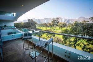 A balcony or terrace at Moon Luxury Apartments