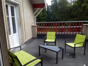 Balcon ou terrasse dans l'établissement Domaine de L'Arche de René