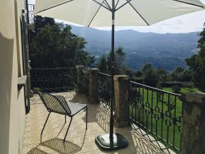 A balcony or terrace at Alpe del Lupo