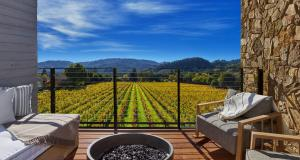 A balcony or terrace at Las Alcobas Napa Valley- A Luxury Collection