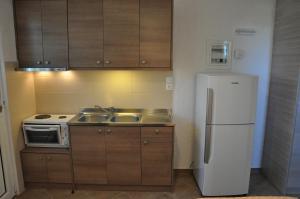 Cuisine ou kitchenette dans l'établissement Villa Annilena